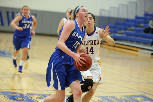 Easton's Brittney Dumas, a Joel Barlow graduate, was named the Rookie of the Year in the Empire 8 Conference. She plays for Hartwick College.