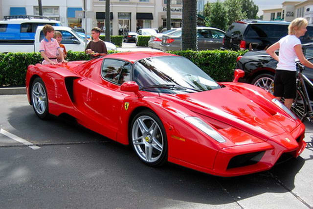 A pair of 2003 Ferrari Enzos - one owned by Tommy Hilfiger - are the highest-assessed cars in Greenwich, according to the tax assessor's office.