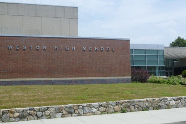 Police are searching Weston High School Wednesday afternoon after an unconfirmed threat was received.