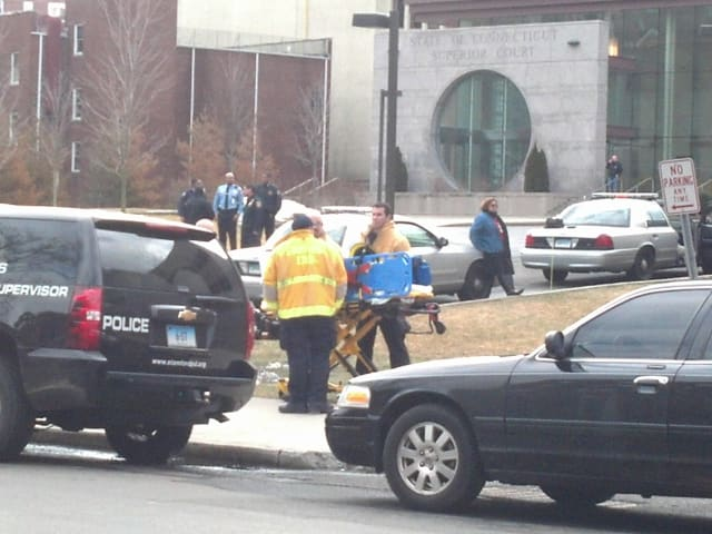The Stamford Courthouse was evacuated Thursday morning.