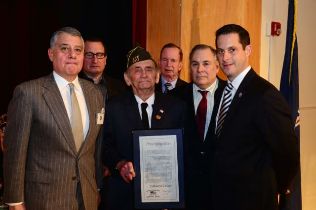Edward Lucas of Pound Ridge was inducted into Sen. Greg Ball's Veterans' Hall of Fame.
