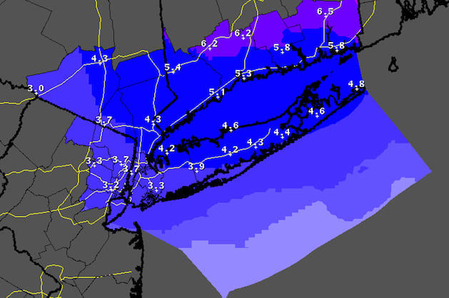 Snow will continue to fall from Stamford to Ridgefield to Fairfield Friday but some warmer weather is on the way.