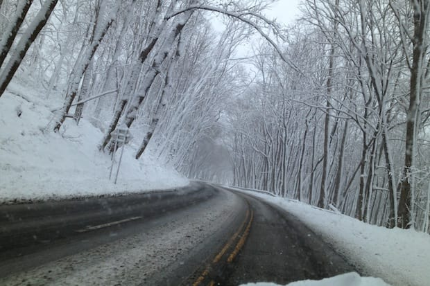 Reader photo: Richard Massari took this shot on his way to work along Route 22 between Armonk and North White Plains.