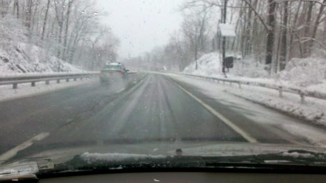 The Saw Mill River Parkway was clear Friday morning.