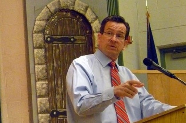 Gov. Dannel Malloy praised the passage of legislation to aid the first responders to the Sandy Hook tragedy.