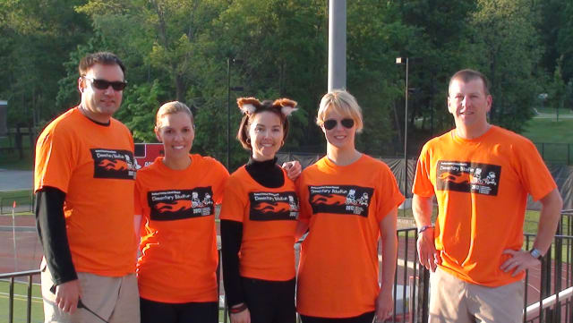BikeRun Leadership taken during the 2012 event: Kevin Long, left, Lara Gentile, Christina Dochtermann, Jennifer Magee, Alex Kozersky.