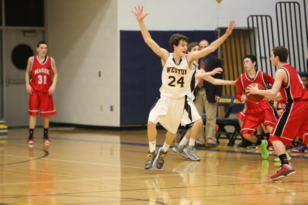 Leading scorer Charlie DiPasquale and the Weston boys basketball team will try to earn a trip to the state championship game Tuesday night.