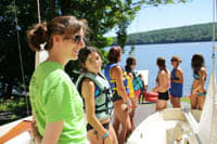 The programs at Camp Candlewood emphasize the water. The New Fairfield camp is open to all school-age girls, scouts and non-scouts alike.