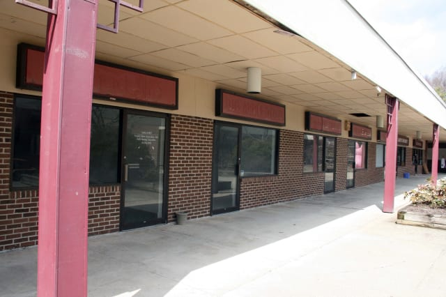 Much of the retail space surrounding Pound Ridge's Scotts Corner Market is vacant.