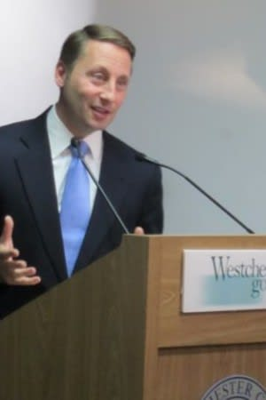 Westchester County Executive Rob Astorino said Tuesday his focus is re-election in November, not the governor's mansion.
