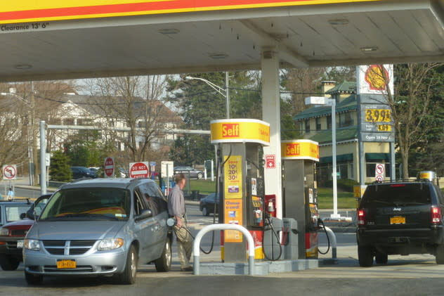 Gas prices around the region are on the way down, AAA reports.
