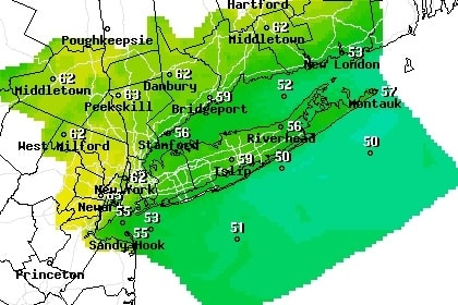 Temperatures in Westchester County are expected to be in the mid-60s all week, according to AccuWeather forecasts.