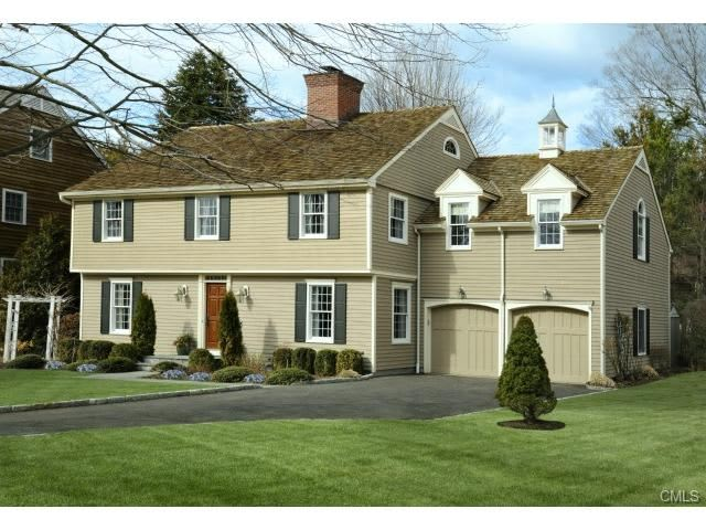 The home at 22 Half Moon Way in Stamford will be open from 1 to 4 p.m. on Sunday.
