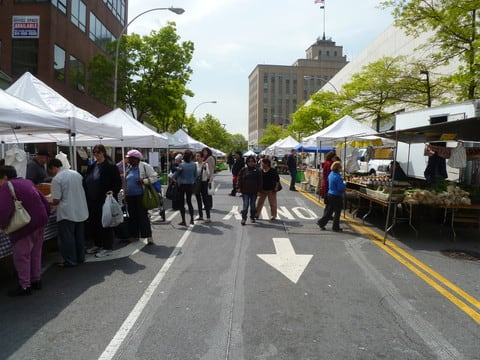 The White Plains Outdoor Farmers Market opens May 1.