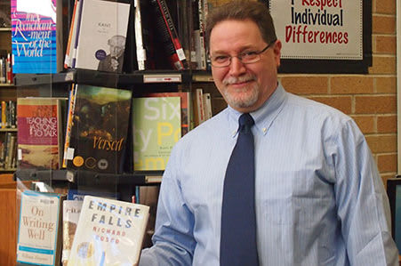 "Harrison High School teacher Gary Glauber created a poem using words and phrases from Richard Russo's book ""Empire Falls."""