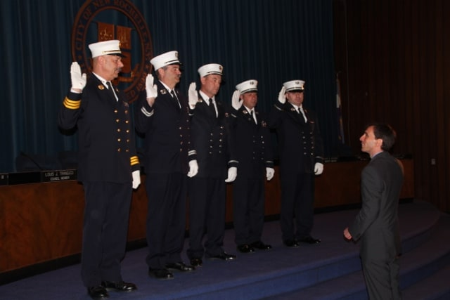 Members of the New Rochelle Fire Department were honored earlier this week.