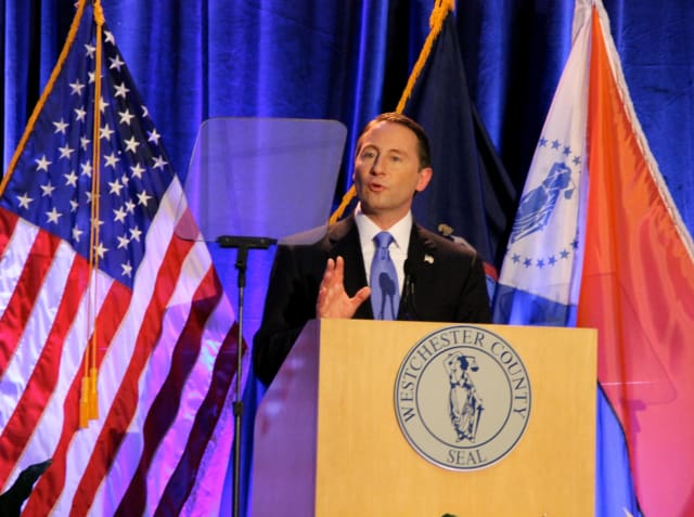 Westchester County Executive Rob Astorino during his speech.