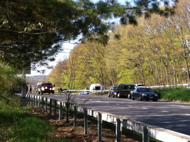 The Saw Mill River Parkway was closed in both directions in Yonkers early Friday evening after what appeared to be a fatal motorcycle accident.