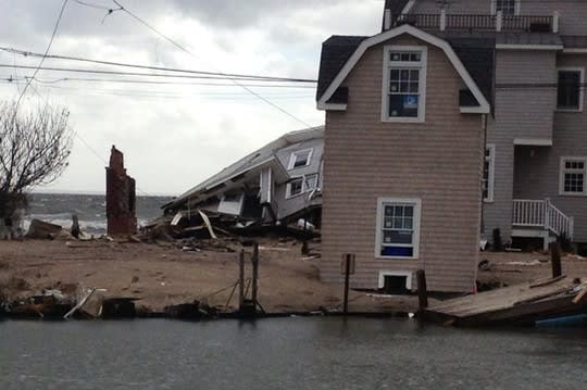 Hundreds of homes were damaged during Hurricane Sandy, like these in Fairfield.