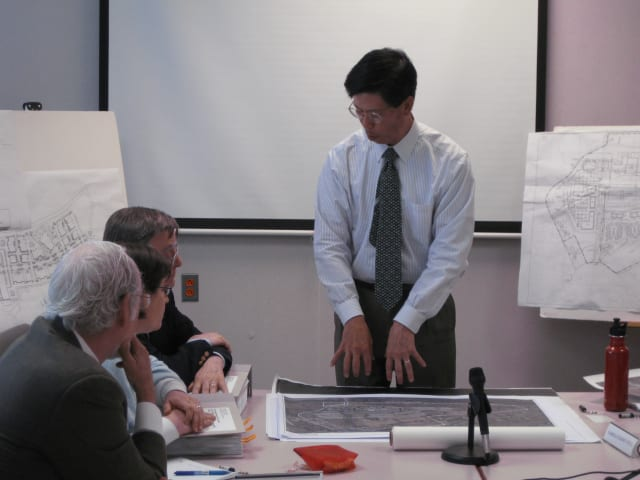 Summit/Greenfield Planner Andrew Tung met with the New Castle Planning Board Thursday afternoon to talk about the Chappaqua Crossing property.