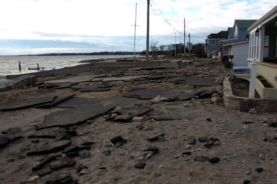 Fairfield Beach Road in Fairfield was destroyed last year in Hurricane Sandy.
