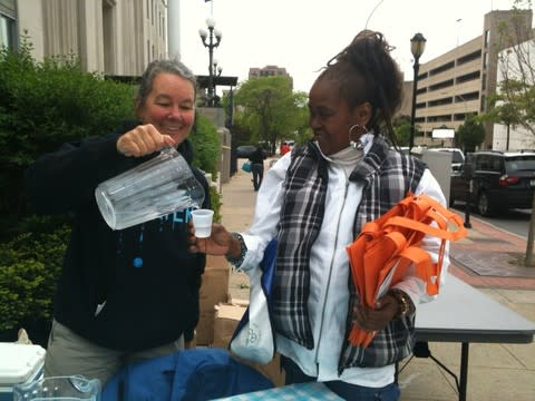 Westchester residents sample water from nine county water suppliers Friday for a blind taste test.