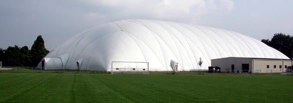 This Sports World dome was destroyed in a tornado Monday in East Windsor.