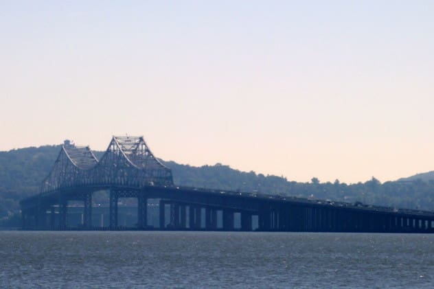 Pre-construction work on the new Tappan Zee Bridge will continue next week, causing some lane closures, the New York State Thruway Authority said.