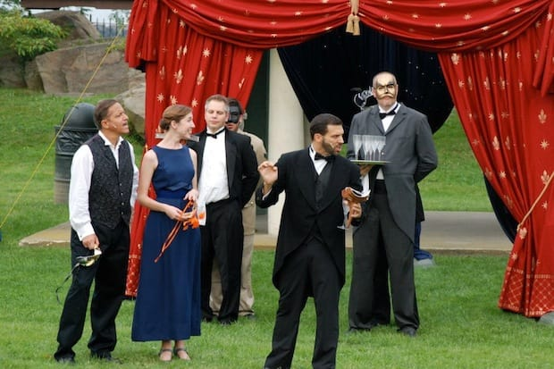 "A scene from the 2012 Port Chester Council for the Arts LawnChair Theatre production of ""Much Ado About Nothing."" This year's performance will be a ""Mad Men"" inspired production of ""The Taming of the Shrew."""