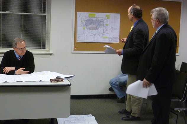 Representatives for Splash Car Wash at a Bedford Planning Board meeting in Feb. Splash is fighting to keep its current location at N. Bedford Road until its new location is built despite being ordered to leave by the landlord.