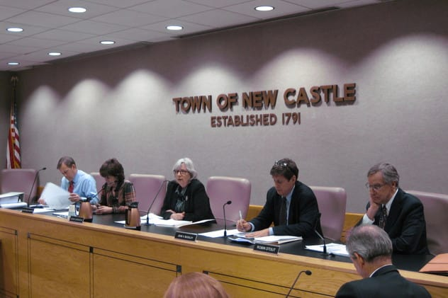 The New Castle Town Board approved a special permit for the Conifer affordable housing project, 3-2.