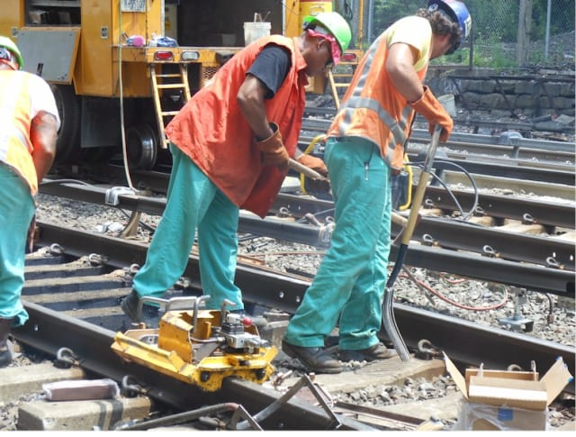 Metro-North is working on right-of-way improvements in the Bronx between Melrose and Woodlawn.