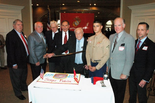 A group of 80 Marines gathered in Norwalk to celebrate the birthday of the corps recently.