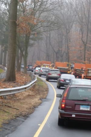 Concrete barriers will be set up beginning Monday along the Merritt Parkway on Monday.