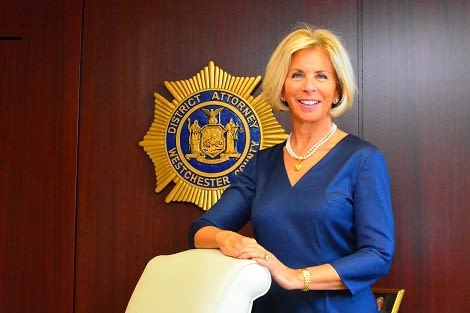 """Westchester District Attorney Janet DiFiore warns shoppers to beware of """"skimmers"""" during the holidays."""