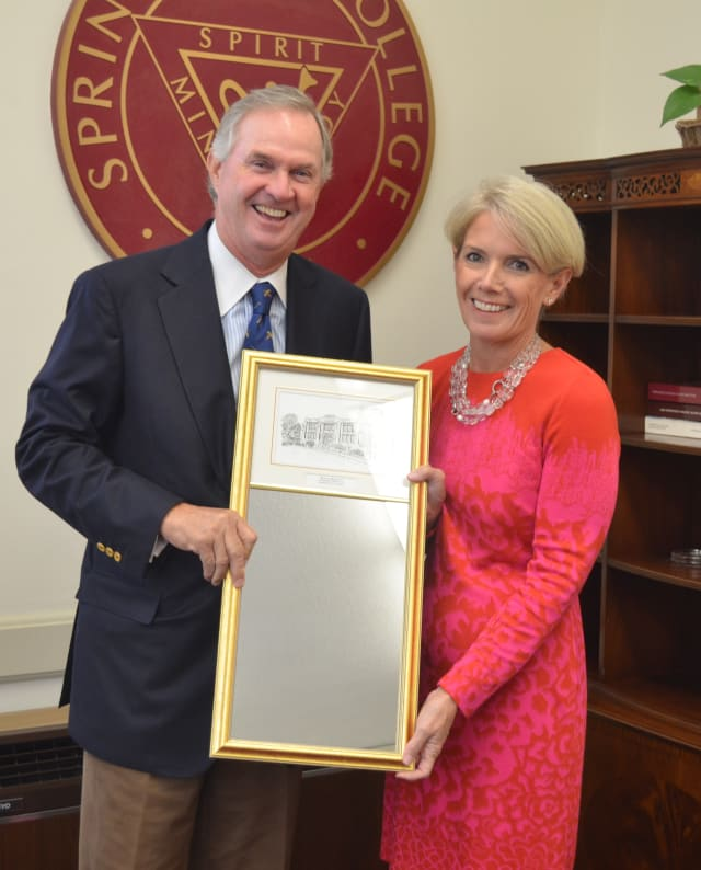 Stamford native Peter G. Helie recently received the 2013 Springfield College Distinguished Alumnus Award.