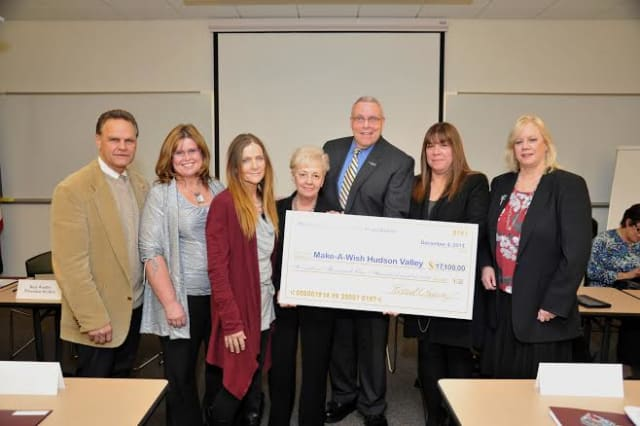 The Hudson Gateway Association of REALTORS (HGAR) recently presented a check  to Make-A-Wish Hudson Valley. See story for photo IDs.