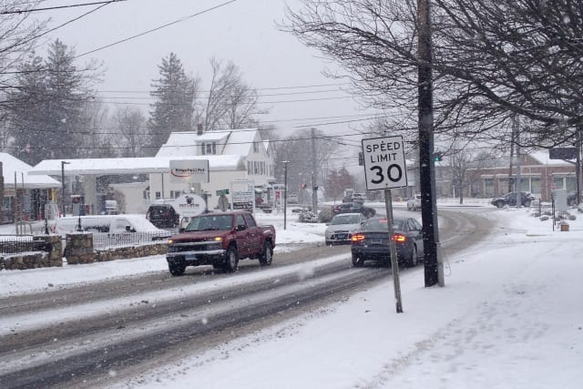 Snow accumulations of between 2 to 5 inches are expected in Westchester on Tuesday.