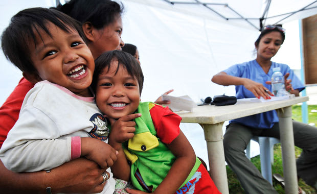 Stamford's AmeriCares has provided millions in aid to the Philippines since a typhoon hit the island nation in November.
