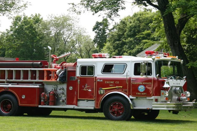 Darien, Noroton and Noroton Heights fire crews battled to put out a blaze on Hollow Tree Ridge Road on Wednesday.