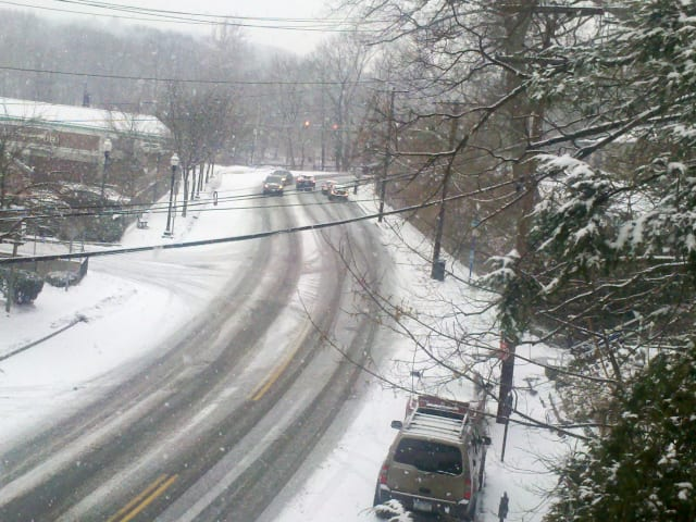 Light snow, accumulating as much as 1-2 inches in parts of Westchester, fell early Friday morning.