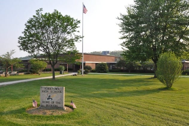 Mildred E. Strang Middle School and Yorktown High School have been named as state Reward Schools.