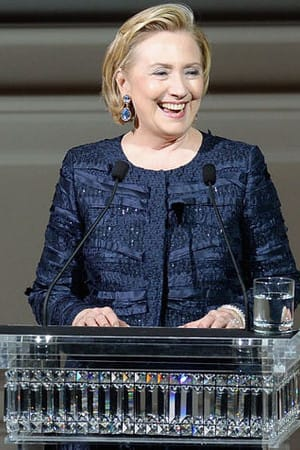 Hillary Clinton will be at New Castle Town Hall this afternoon to swear in the town's elected officials.