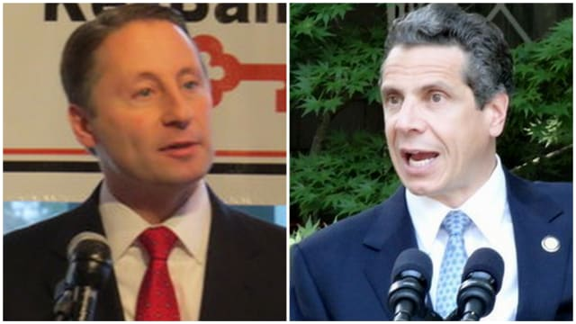Westchester County Executive Rob Astorino (left) is considering a run for governor against incumbent Andrew Cuomo (right).