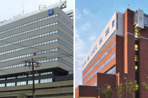 Norwalk Hospital, left, is now part of the Western Connecticut Health Network, with Danbury Hospital,