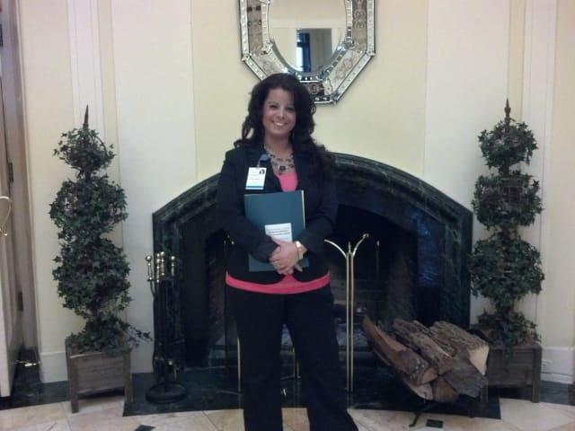 NWH nurse Erika Setzer takes a photo at 2014 School Nurses Conference.