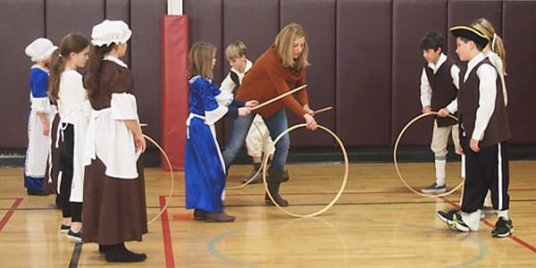 Harrison Avenue Elementary School students got a blast from the past as part of the school's annual Colonial Day activities.