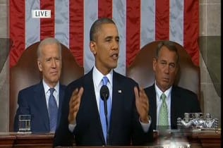 President Barack Obama speaks to Congress at his fifth State of the Union address on Tuesday.