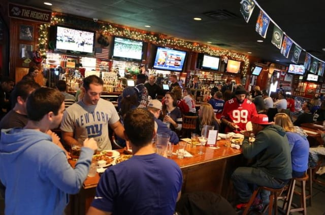 Bob Hyland's Sports Page Pub has been a haven for Superbowl revelers for 33 years.