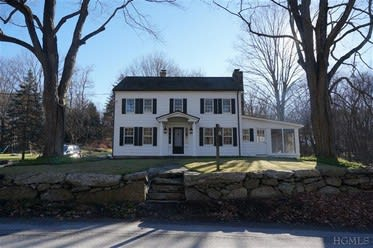 This house at 190 Upper Shad Road in Pound Ridge is open for viewing this Sunday.